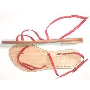 CORNETTI Italian Red Leather Strappy Sandals 6/37